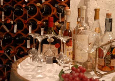 La cantina dell'hotel e ristorante Il Maniero, val di Sole, Trentino